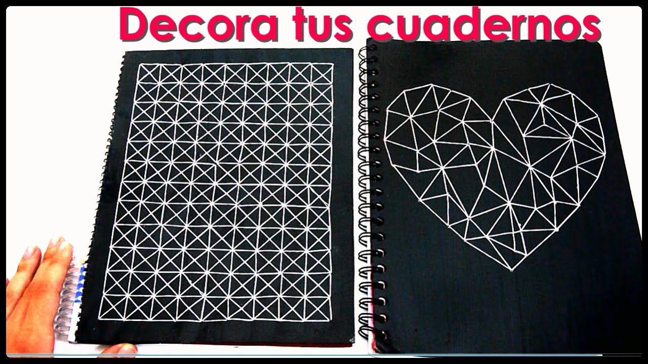 Diy c mo decorar tus cuadernos yami diy pinterest - Como decorar cuadernos ...