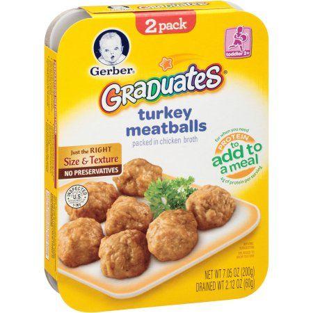 gerber graduates turkey meatballs 2 count 7 05 oz