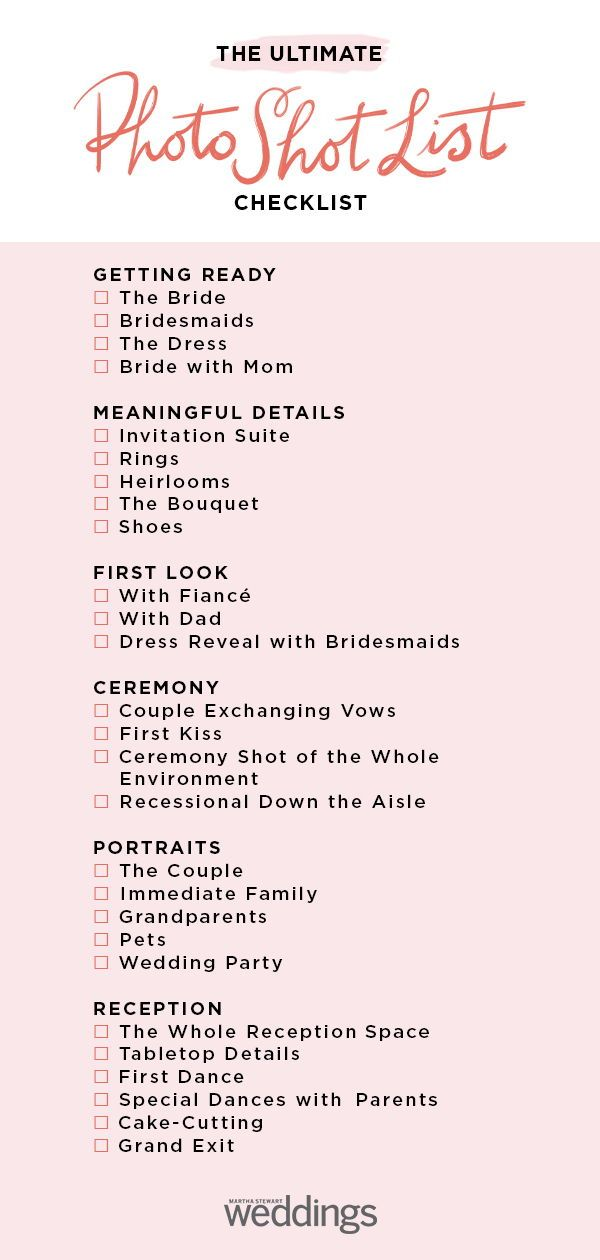 The Ultimate Wedding Photo Shot List is part of Wedding photography checklist - You'll want to share this guide with your wedding photographer