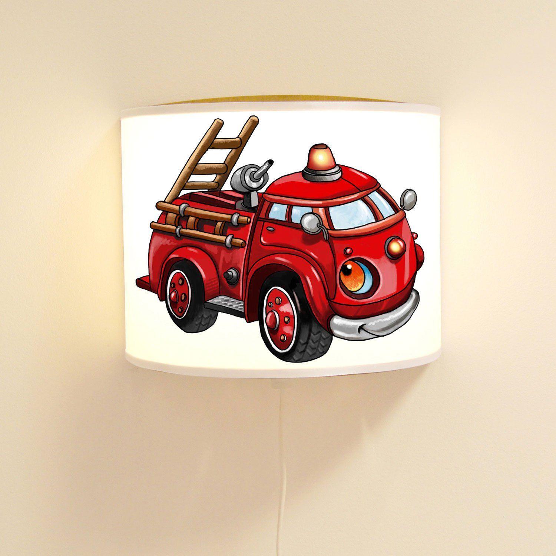Kinderlampe Fur Das Feuerwehrzimmer Die Kinderlampe Wandlampe Mit Feuerwehr Loschfahrzeug Ist Eine Coole Wand Dekorati Kinder Lampen Kinderlampe Feuerwehrauto