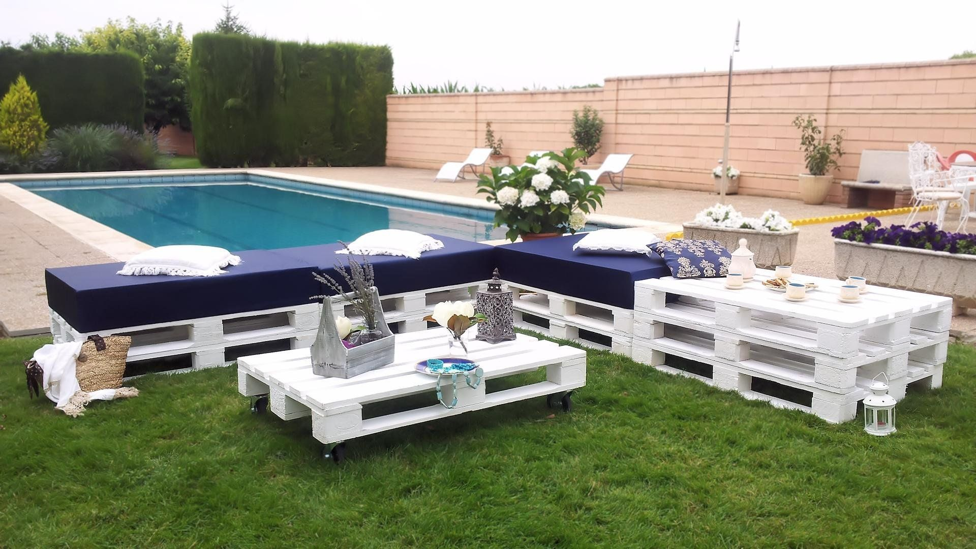 Chill Out Blanco de palets | patio | Pinterest | Palets, Blanco y ...