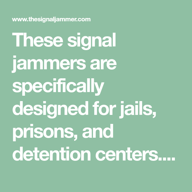 Signal jammers for security | desktop signal jammers wholesale