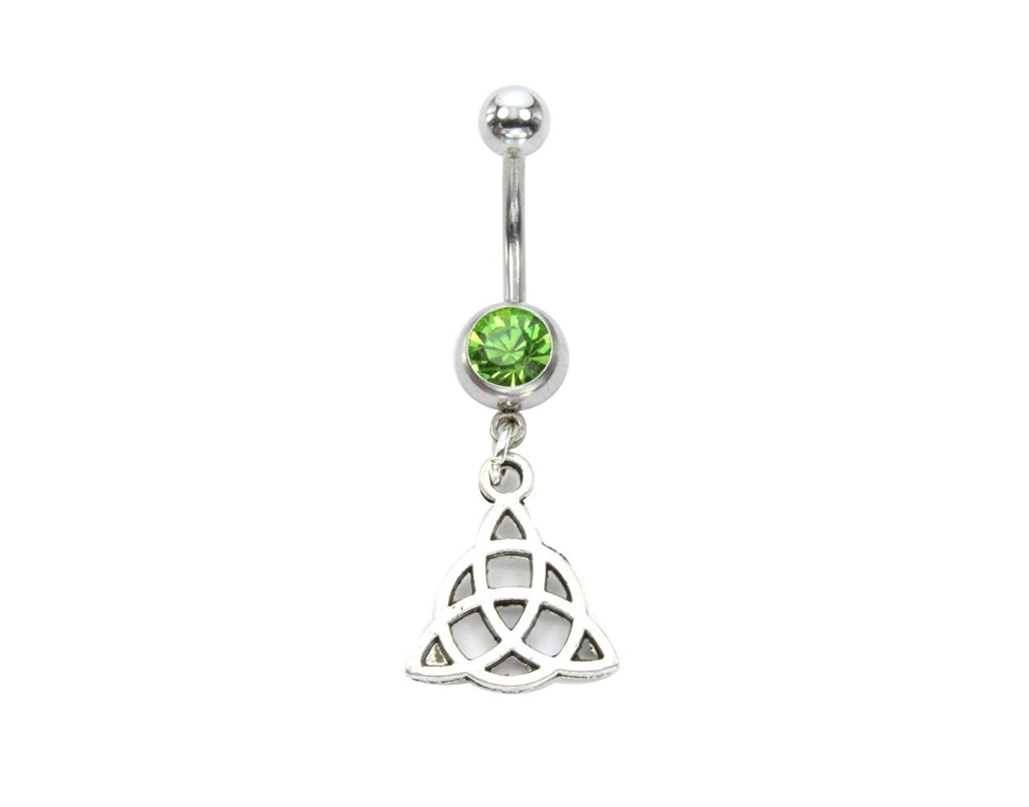 Belly piercing names  Irish Celtic Knot Belly Ring Piercing Bohemian Handmade Jewellery