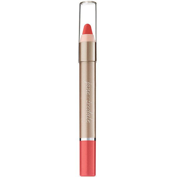 Jane Iredale PlayOn Lip Crayon, Saucy 0.1 oz (3 ml) ($18) ❤ liked on Polyvore featuring beauty products, makeup, lip makeup, jane iredale, jane iredale makeup, jane iredale cosmetics, lips makeup and lip cosmetics