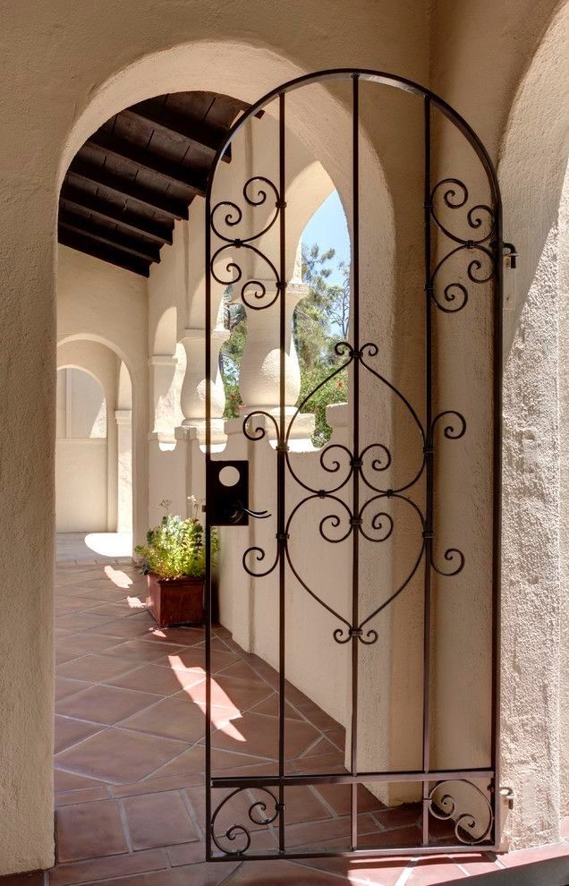 Metal Gates, Iron Gates, Italy House, Gate House, Portal, House Design,  Exterior, Los Angeles, Iron Doors