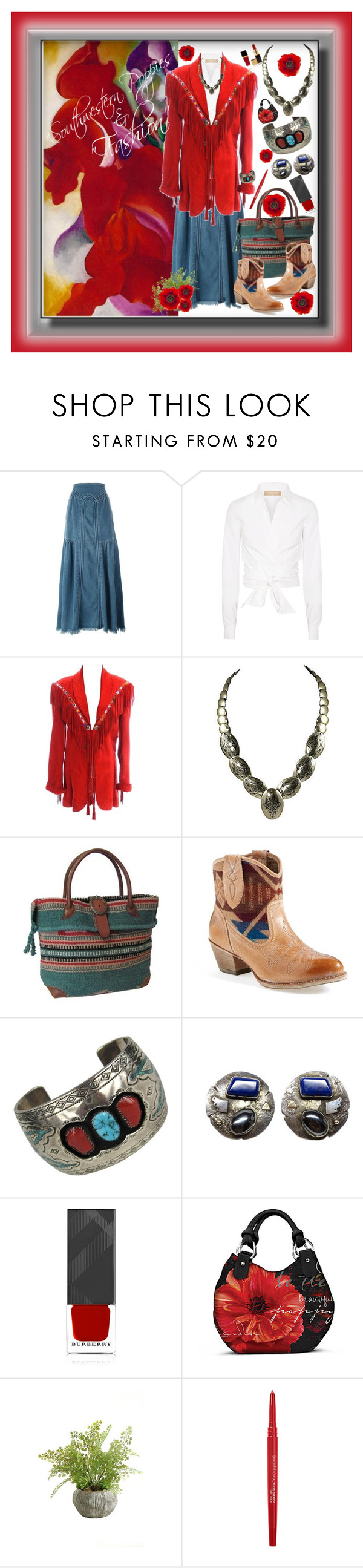 """""""Untitled #619"""" by onesweetthing ❤ liked on Polyvore featuring Chloé, Michael Kors, AmeriLeather, Ariat, Burberry, The Bradford Exchange, Tom Ford, Paul Frank and Smashbox"""