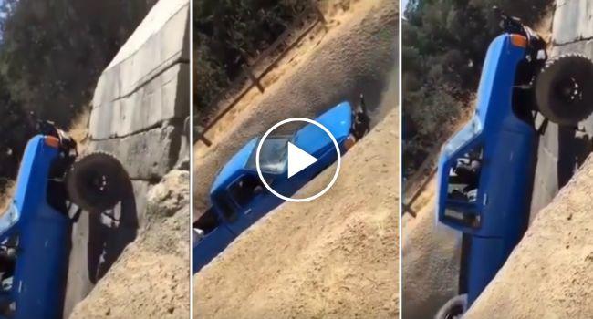 Condutor Desafia a Gravidade e Faz Subida Vertical Com Pick-Up