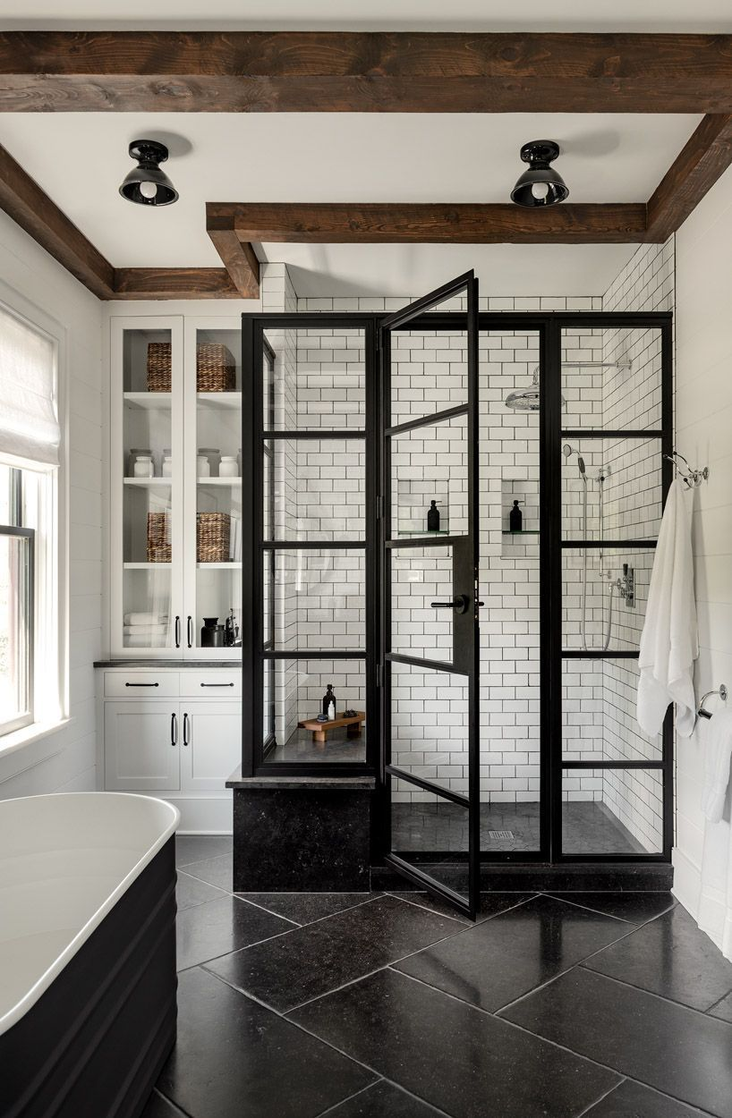 Modern Farmhouse-Upstate – On the Drawing Board #dreambathrooms Modern Farmhou… - kledlade.pak-24.com
