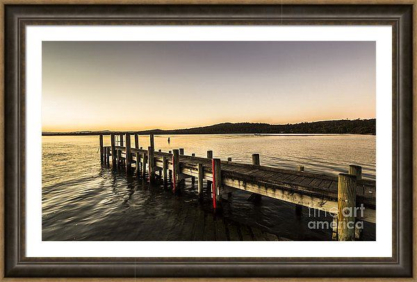 Swan River Framed Print featuring the photograph Swan River Jetty by Ryan Jorgensen