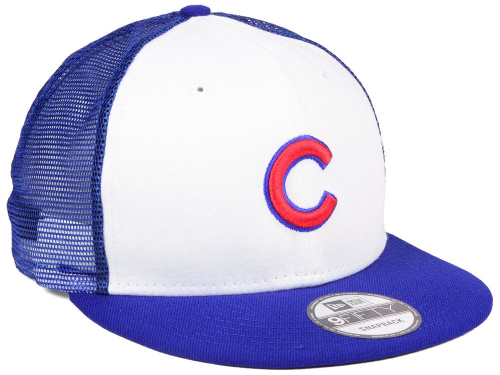 3f9177fbcbb Chicago Cubs New Era MLB Old School Mesh 9FIFTY Snapback Cap ...