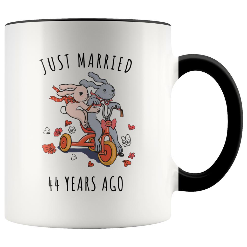 Just Married 44 Years Ago 44th Wedding Anniversary Gift