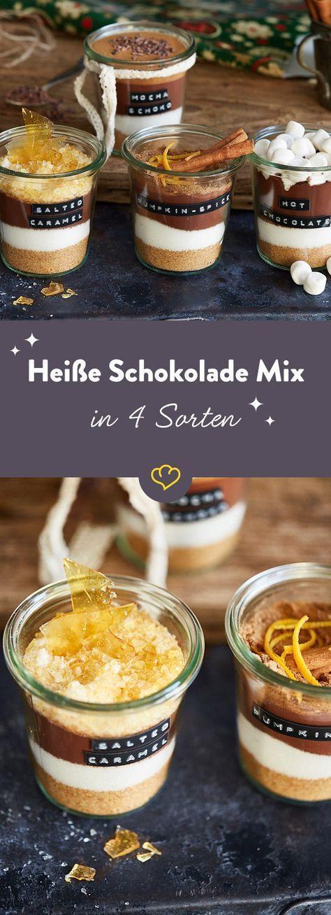 Heiße Schokolade Mix in 4 Sorten als Last-Minute-Geschenk