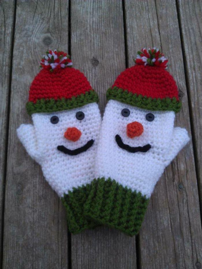 Photo of Hier eine super Bastelidee: Schneemann häkeln! #glovesmadefromsocks Hier eine s…