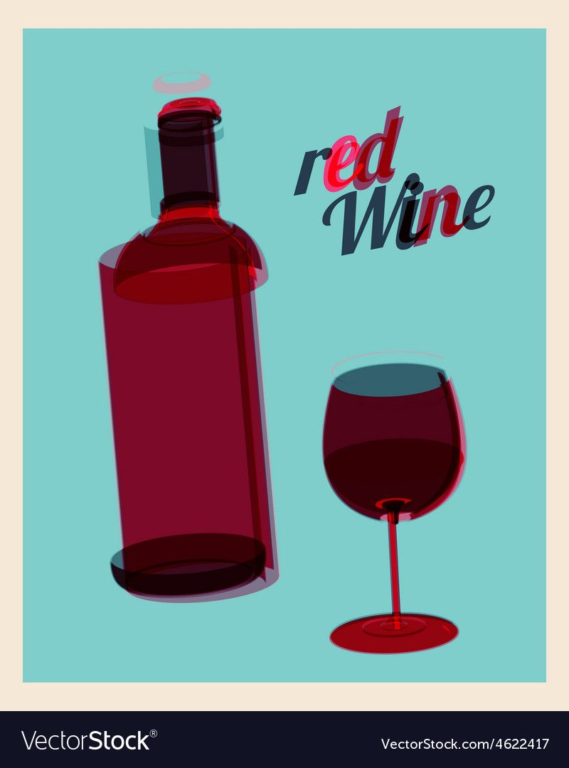 Vintage Poster Bottle Of Red Wine And Glass Vector Image Ad Bottle Red Vintage Poster Ad Vector Free Vector Images Artist Logo