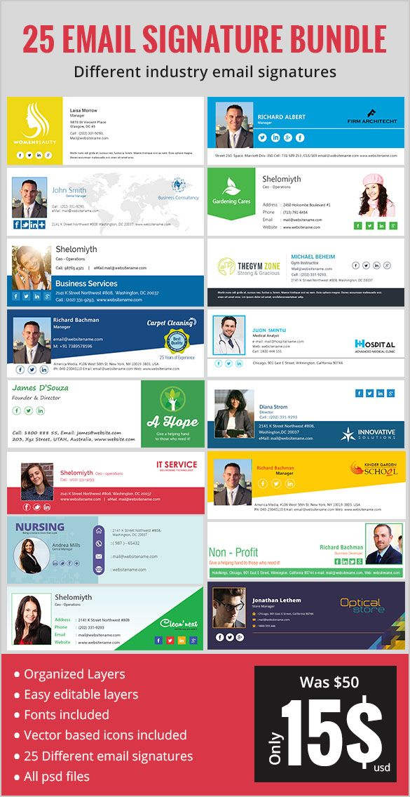 64 Email Signature Designs Download Edit Easily College Work