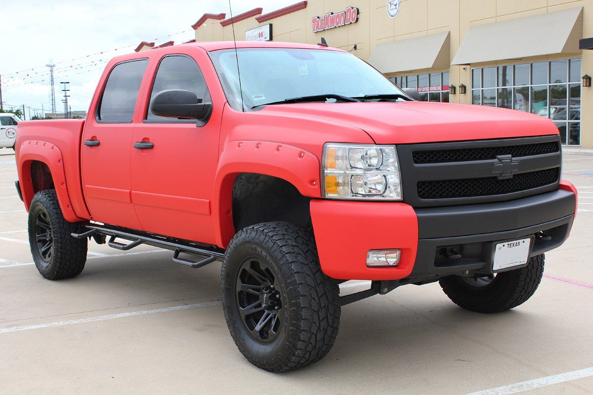 Matte Red Vinyl Truck Wrap Trucks Matte Red Chevy Trucks