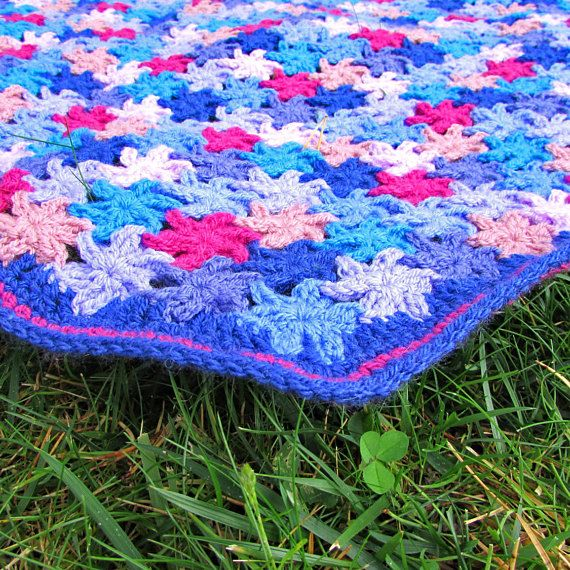 Cottage Garden Floral Throw Free Uk Reduced International Shipping Everything You Need To Cro Crochet Blanket Kit Crochet Blanket Crochet Blanket Patterns