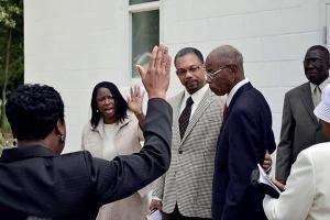 Church dedicates new building to retired pastor Rev