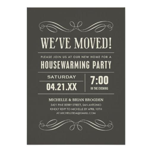 Housewarming Party Invites