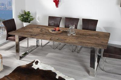 Massiver Esstisch Boat 240x100cm Antik Teak Holz Inkl Glasplatte Masse Breite In Cm Ca 240 Solid Wood Dining Table Dining Table Rustic Dining Table