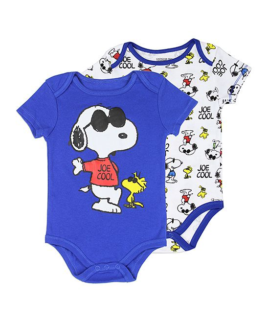 18e5cefc7c8d Peanuts by Charles Schulz Blue Snoopy Bodysuit - Set of Two