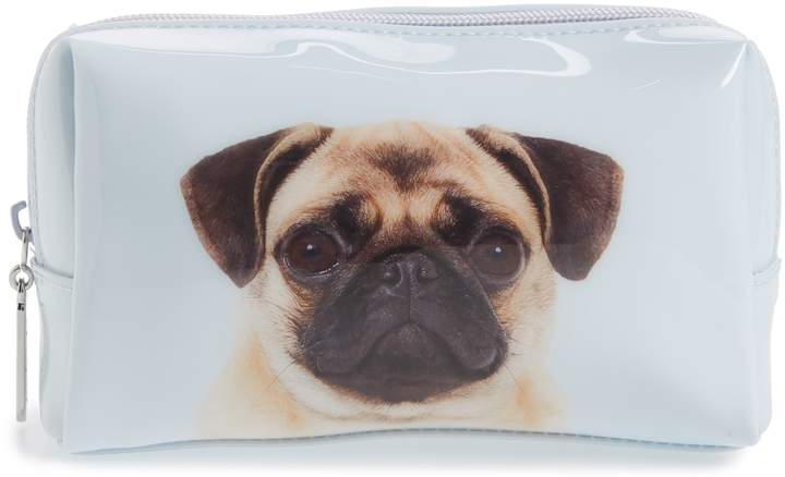 Catseye London Pug On Blue Cosmetics Case Products Cosmetic
