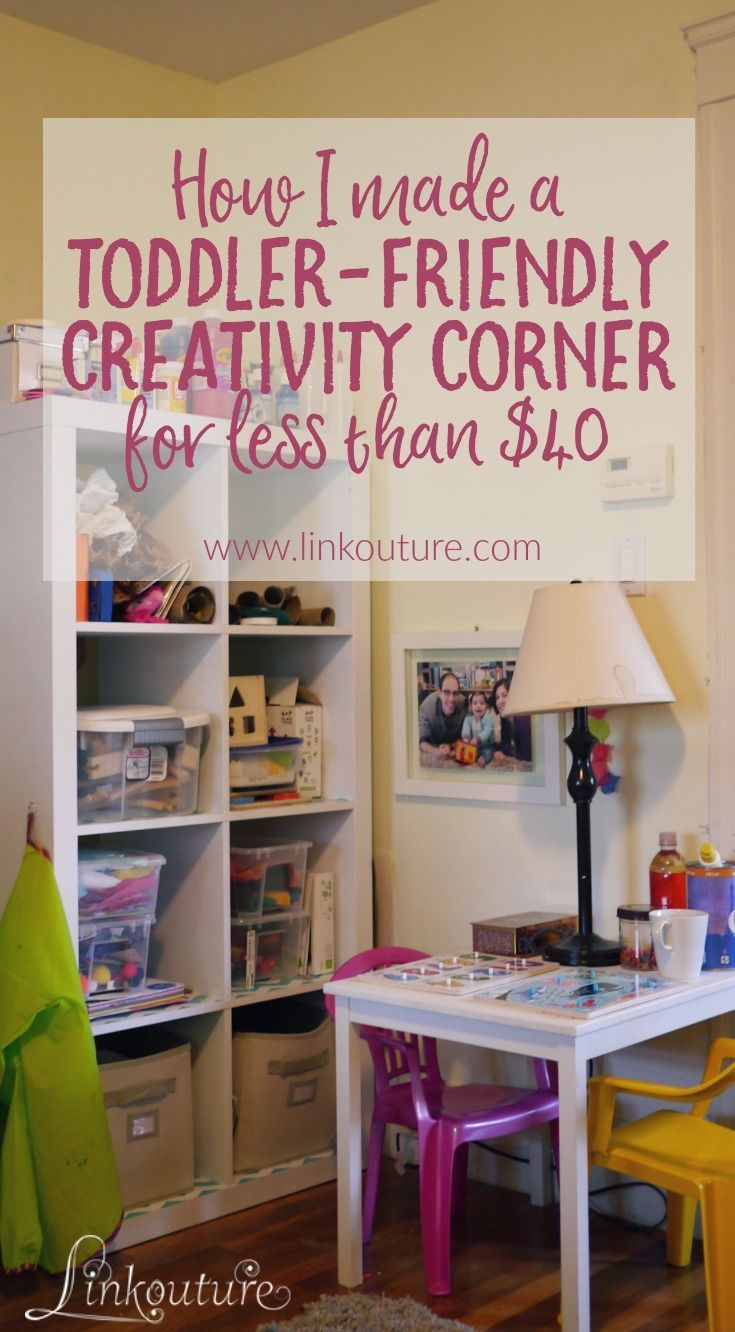 40 Stunning Small Living Room Design Ideas To Inspire You: How I Made A Toddler-friendly Creativity Corner For Less