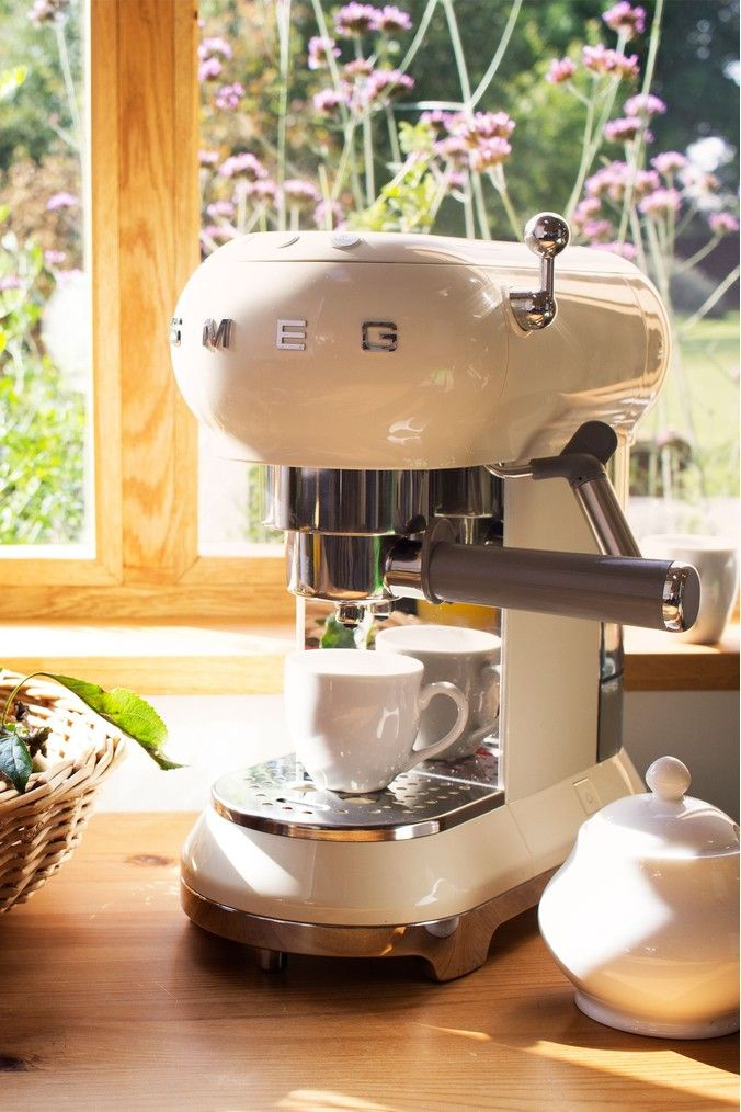 Buy Smeg Cream Espresso Coffee Machine from the Next UK online shop