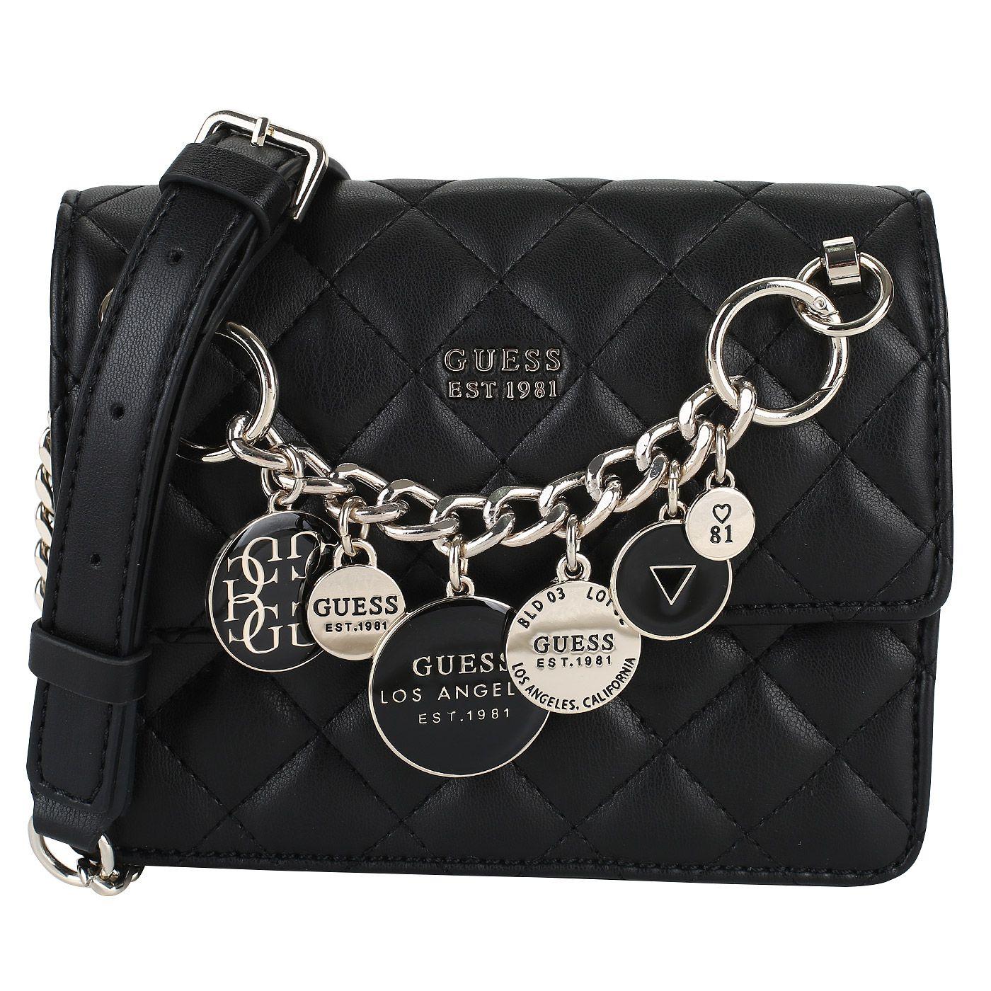0728703f Черная сумочка через плечо Guess Victoria   Новинки. Сумки 2019 ...
