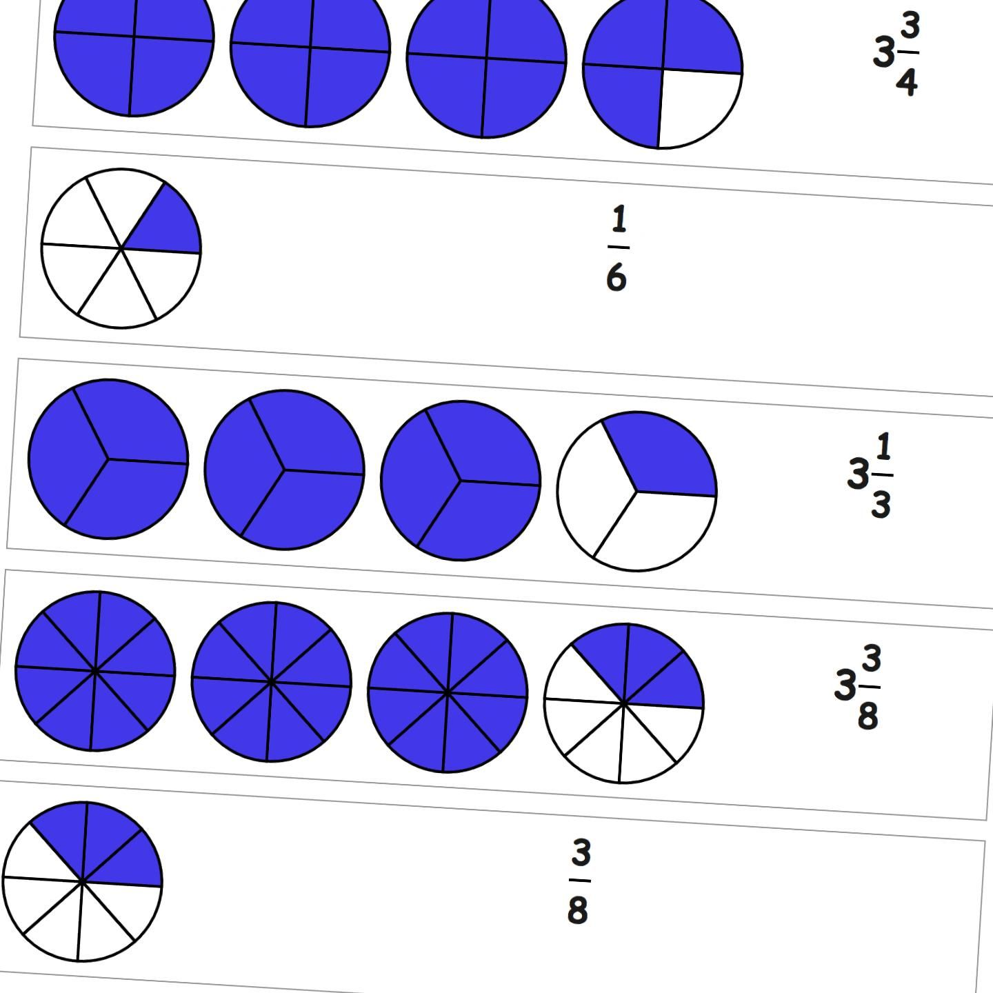 Graphic fractions fraction from drawing these worksheets will graphic fractions fraction from drawing given a pie representation of the a fractional value write the simple or mixed fraction numeric value nvjuhfo Gallery