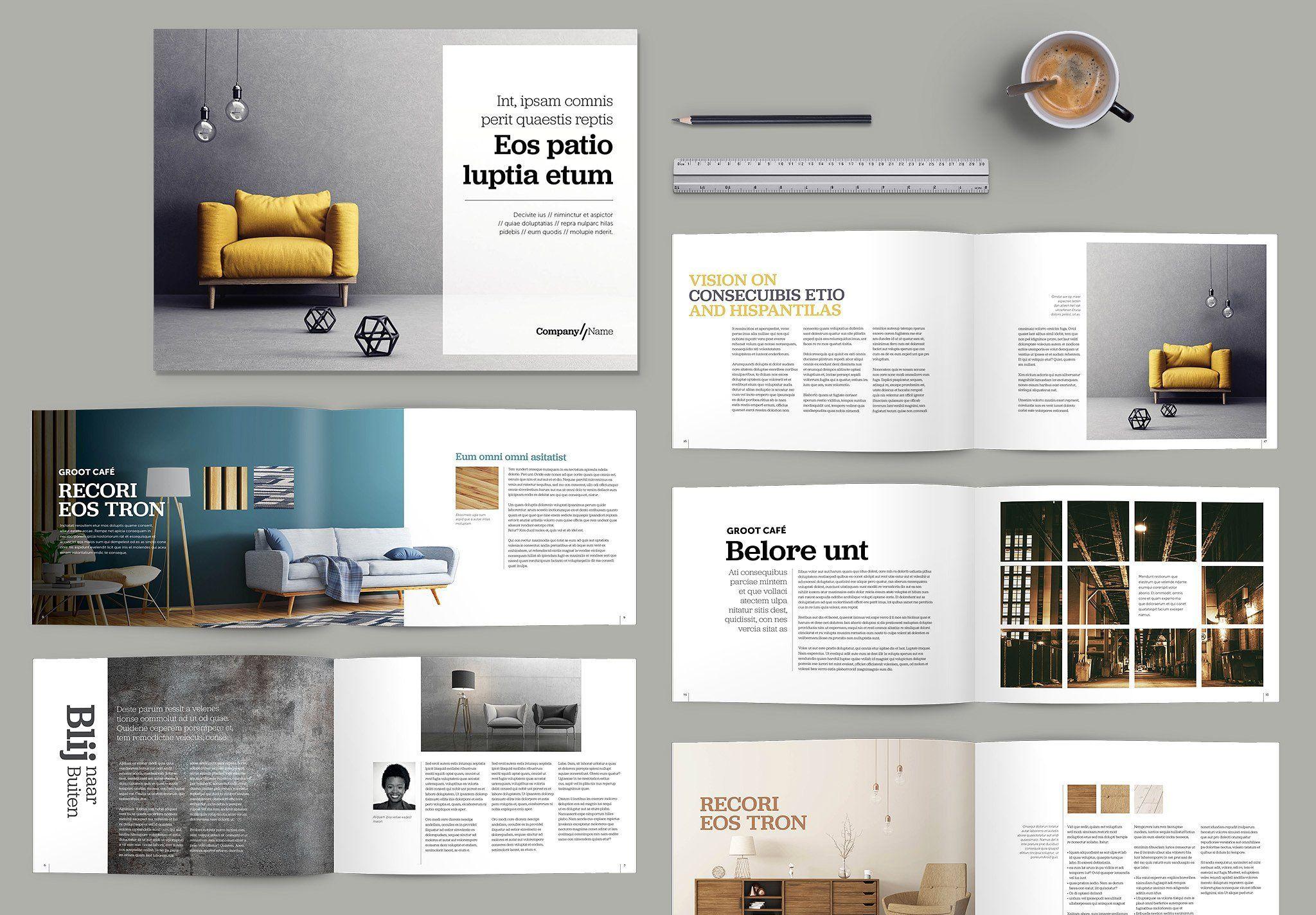 Landscape Brochure Design Template Brochure Design Template Interior Design Template Interior Brochures