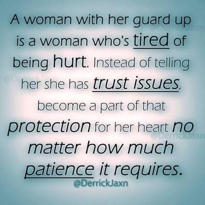 a good woman with trust issues