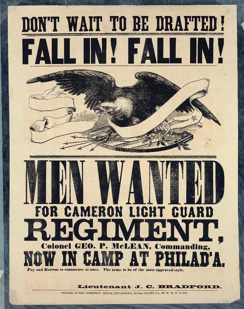 Philadelphia area Civil War recruiting posters | american ...