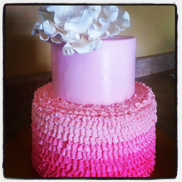 A Frost creation: pink ombre wedding cake
