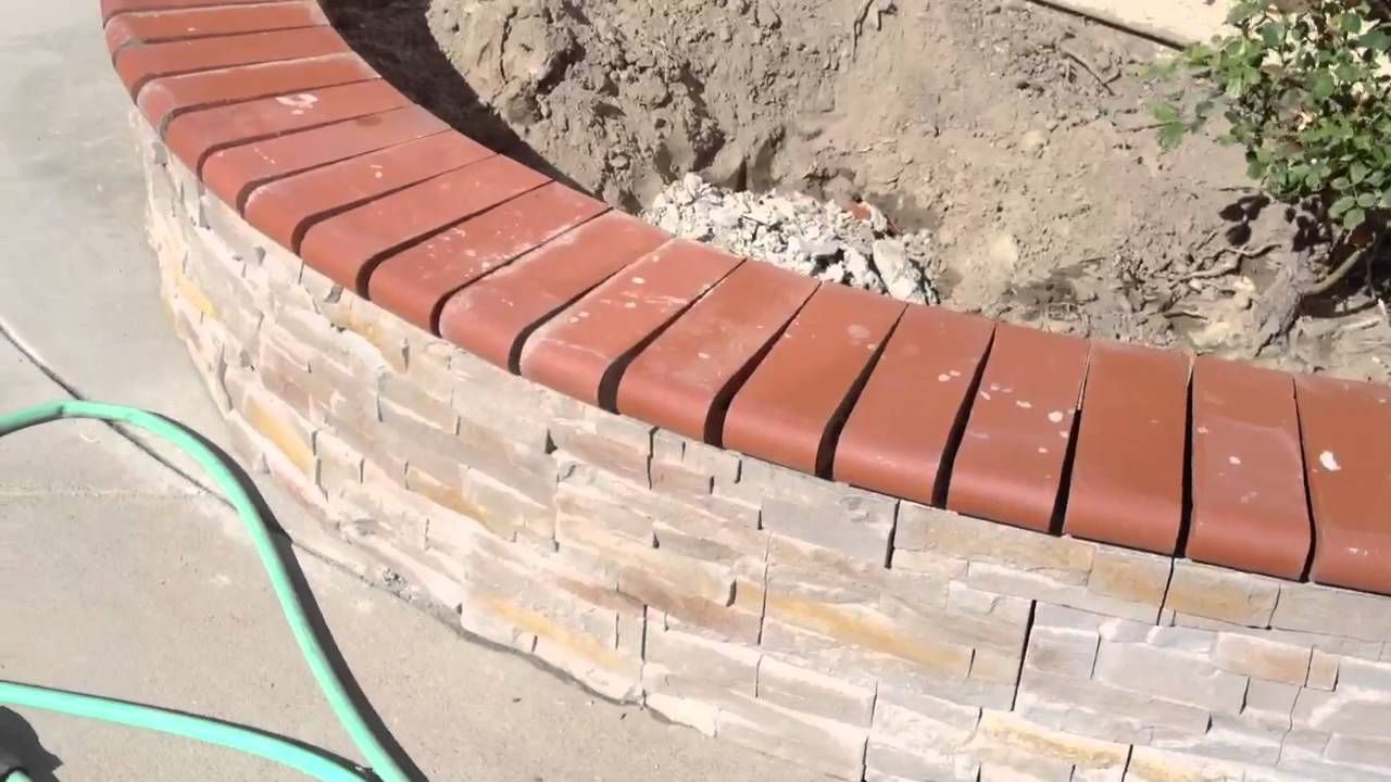 Brick Capped Cinder Block Retaining Wall Google Search Electrical Wiring In Walls