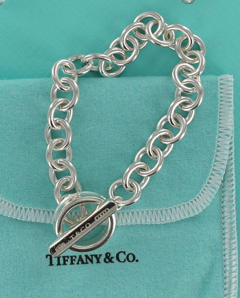 f1c9bf191 Vintage Tiffany & Co 1837 Silver Toggle Bar Circle Bangle 8