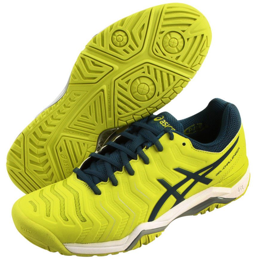 Asics Gel Challenger 11 Men S Tennis Shoes Racquet Indoor Light Green E703y 8945 Asics
