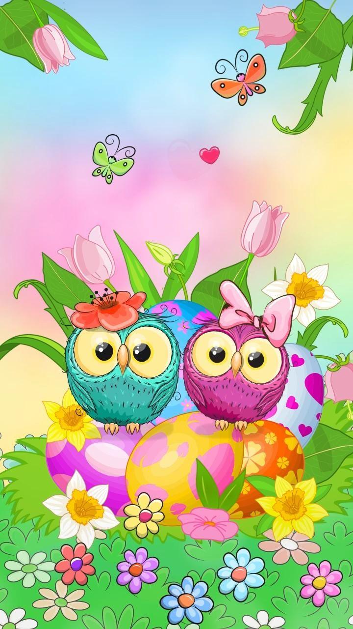 Spring Couple Owl