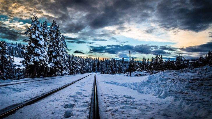 Railroad Winter Mac Wallpaper Download Free Mac Wallpapers
