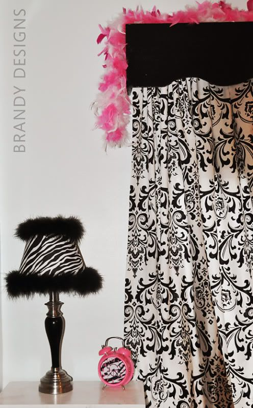 Zebra lamp for under 10 lamp shade from dollar tree black feather boa michaels