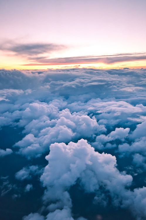 Via Tumblr Clouds Wallpaper Iphone Airplane Sunset Nature