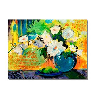 Trademark Fine Art Yellow Wall Framed Art By Shelia Golden At Www Younkers Com Floral Art Canvas Canvas Wall Art Golden Painting
