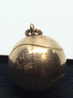 1930 10k Yellow Gold Baseball Charm Pendant Etched On One Side It Reads Uss Okla 1930 Weighs In At 4 8 G Christmas Bulbs Charm Pendant Christmas Ornaments