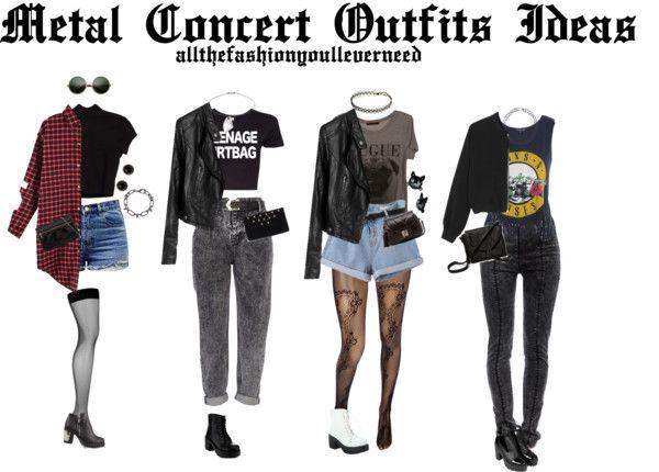 Rock konzert outfit damen