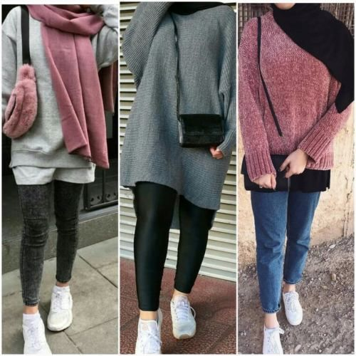 cute cozy winter hijab style outfits hijab fashion. Black Bedroom Furniture Sets. Home Design Ideas