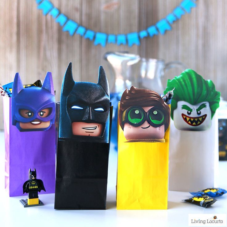 The LEGO Batman Movie Party Treat Bags Free Printable Minifigures For DIY Birthday Favor Cute Gift Idea Kids