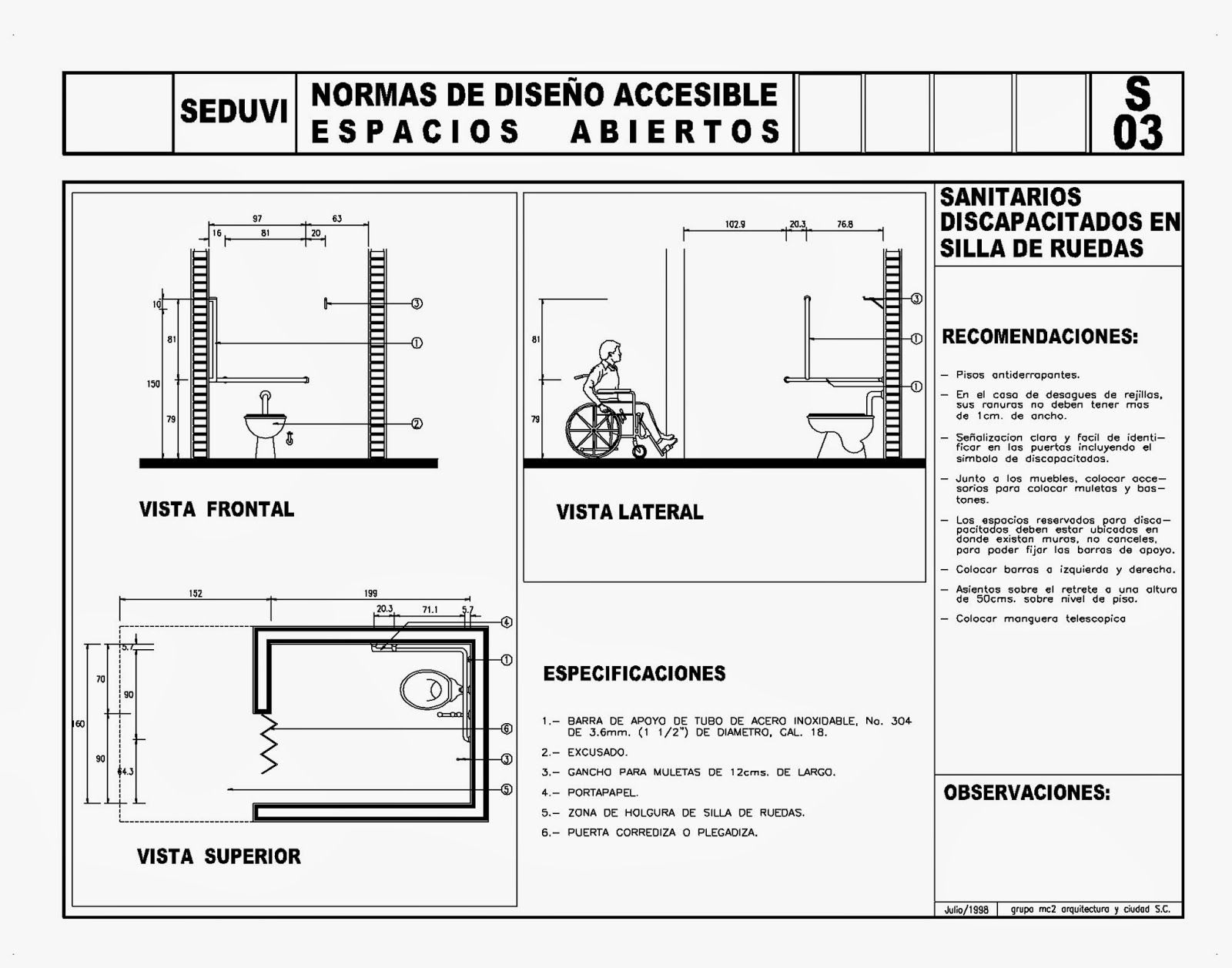 Diseno De Baño Para Discapacitados:Todo para el Arqui ...