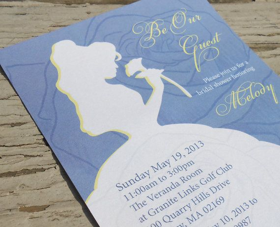 Beauty And The Beast Themed Wedding Invitations: Disney Beauty And The Beast