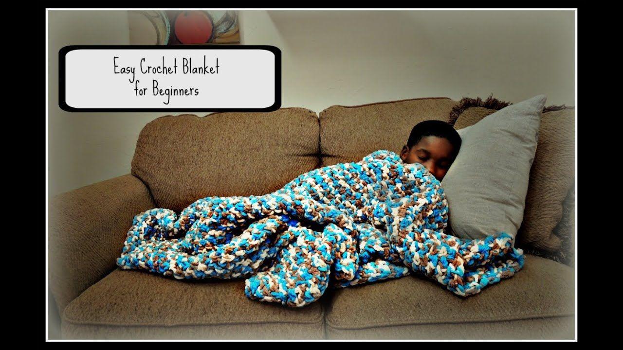 Easy crochet blanket for beginners youtube easy