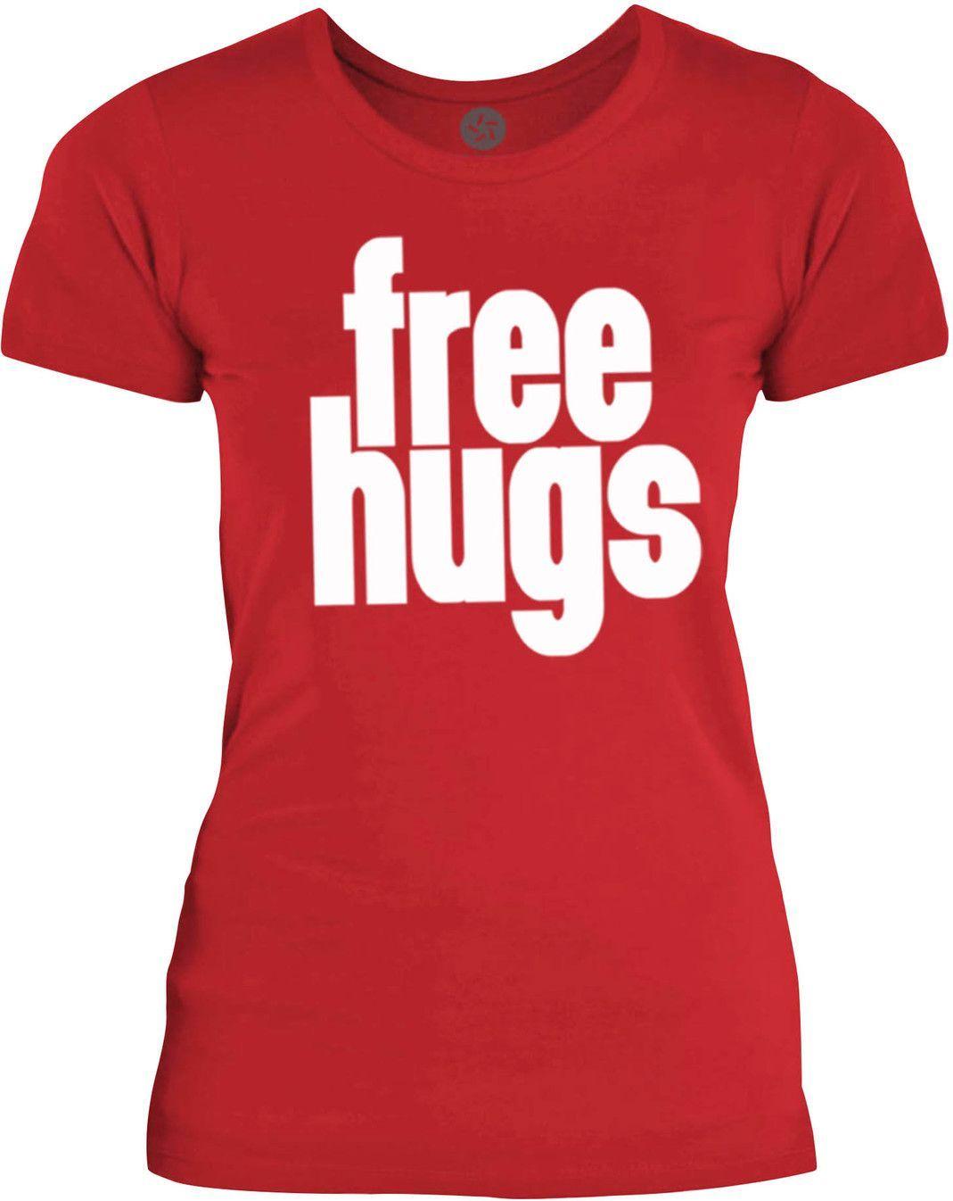 Big texas free hugs white womens fine jersey tshirt products